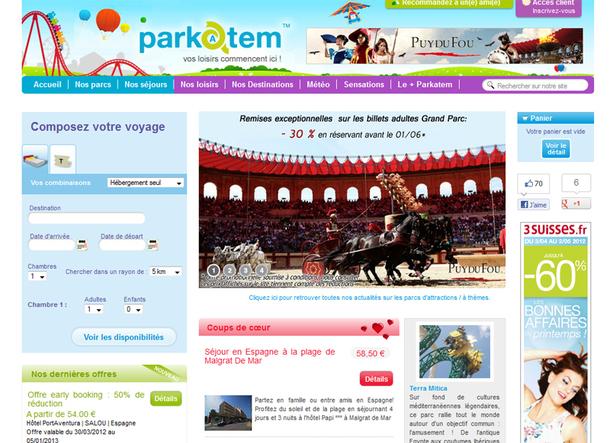 Parkatem est un site de réservations, aussi bien B2B que B2C, qui regroupe l'offre d'une vingtaine de parcs d'attractions, en France et en Europe - DR