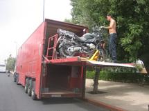 West Euro Bikes a fait l'acquisition d'un semi-remorque qui permet de transporter entre 15 et 20 motos pour les circuits en Turquie, au Maroc, en Andalousie - DR