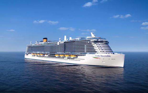 Premier navire de la flotte Costa à utiliser du gaz naturel liquéfié /crédit photo dr