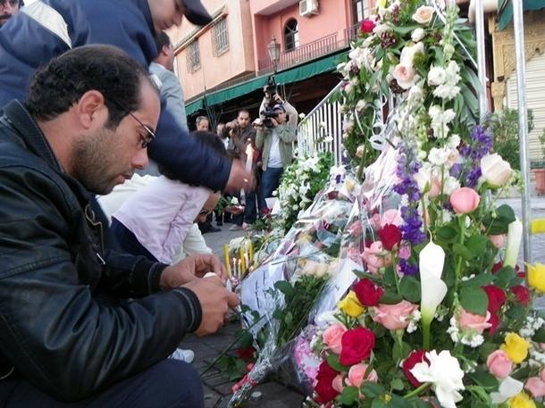 L'hommage des Marocains aux victimes- DR : R.Hannani