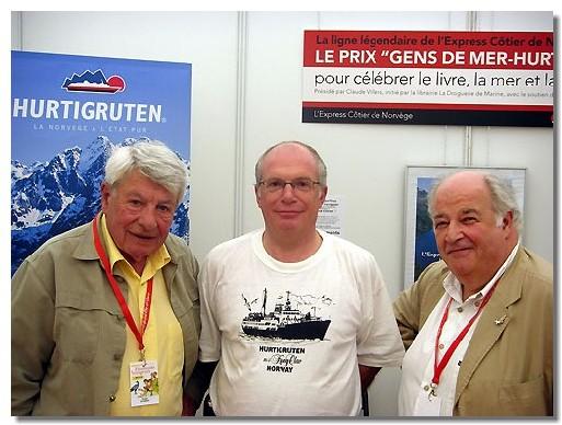 (de gauche à droite), Roger Gicquel, journaliste et écrivain, François Weill, PDG de Hurtigruten et Claude Villers président du Jury