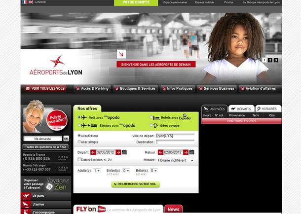 Aéroports de Lyon : une nouvelle page d'accueil pour le site web