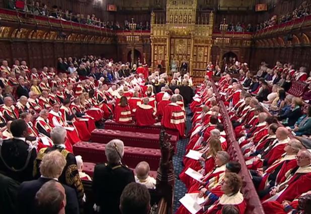 Lors du dernier discours de la Reine devant le Parlement britannique, le 19 décembre dernier © UK PARLIAMENT YOUTUBE