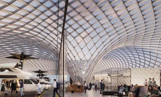 Les aéroports deviendront des points d'embarquement unique, donnant accès à un large éventail d'options de transport. Des innovations telles que les taxis aériens verront le jour d'ici 2030 - DR : SITA