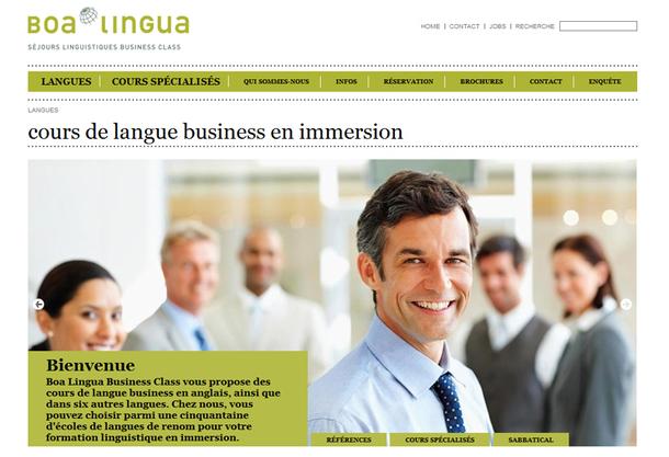"""Boa Lingua se positionne également sur une niche """"affaires"""", la Business Class, qui propose des formations linguistiques aux cadres et aux chefs d'entreprise. Il s'agit là d'une formation à la carte et haut de gamme - DR"""