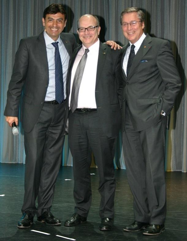 Georges Azouze, Patrice Régnier et Patrick Pourbaix; le trio de choc de Costa France /photo J.B.
