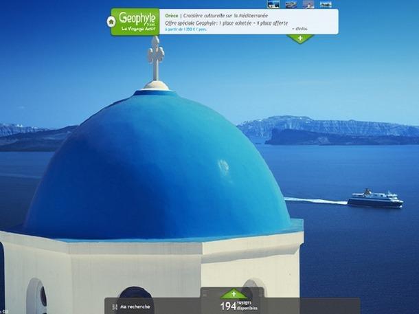 Le site Geophyle.Travel recense les offres de marques partenaires dans le secteur du tourisme actif - Capture d'écran