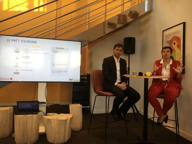 Antoine Troesch, directeur de l'investissement de la Banque des territoires et Anne Guérin, directrice exécutive de Bpifrance ont annoncé en conférence de presse, ce lundi 20 janvier 2020, le lancement du prêt tourisme. – DR : CL