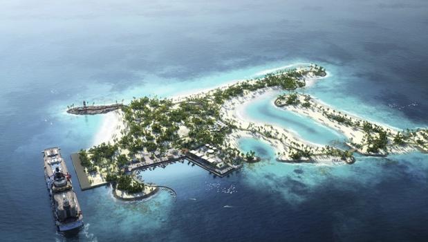 L'île qui était un site industriel a été nettoyée et a été classée réserve naturelle - Photo MSC