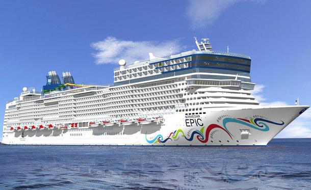 Le Norwegian Epic effectuera 25 escales à Cannes, sur toute la saison 2012 - DR