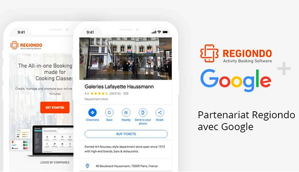 """Google Maps : Régiondo distribue ses activités de loisirs grâce à """"Reserve with Google"""""""