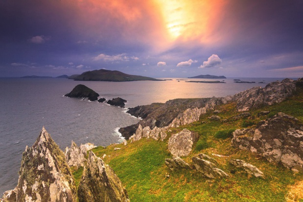 Les îles Blasket vues de la péninsule de Dingle en Irlande - Photo Depositphotos.com walshphotos