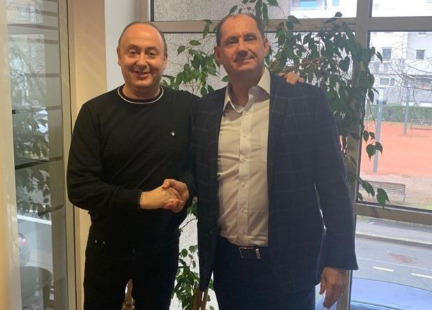Laurent Abitbol et Jean-Pierre Lorente lors de la signature - Photo DR
