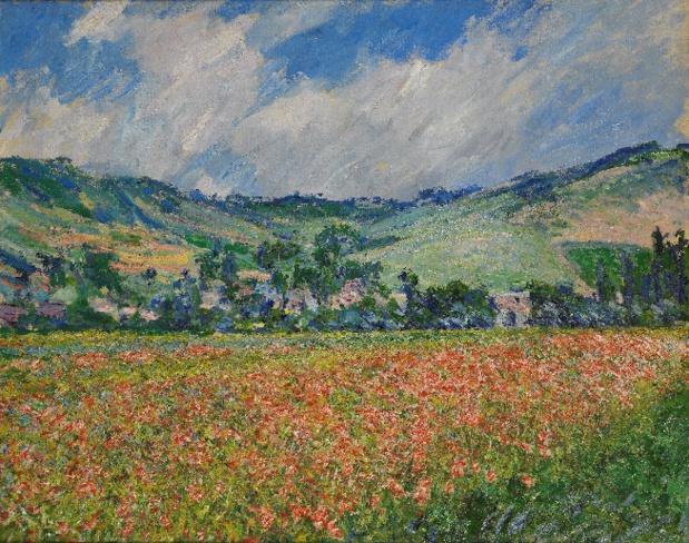 Claude Monet, Champ de coquelicots, environ de Giverny, 1885, Huile sur toile, Musée des Beaux-Arts de Rouen