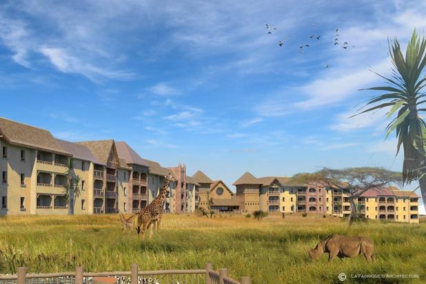 Images virtuelles du projet PAL Savana Hotel Reserve qui ouvrira ses portes en avril 2021- DR : La Fabrique d'Architecture