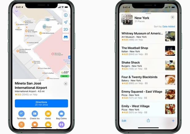 Apple Plans va informer les utilisateurs de l'état du vol - Crédit photo : Apple