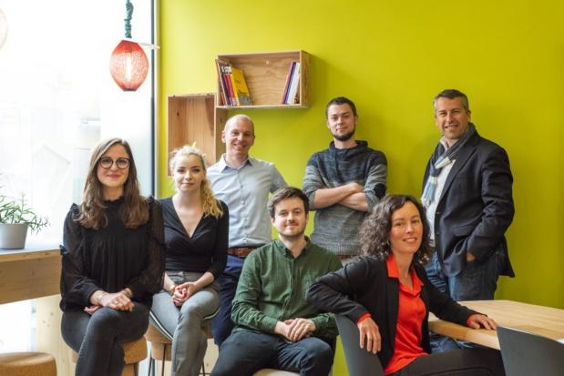 L'équipe de la start-up nantaise Peek'in  - DR