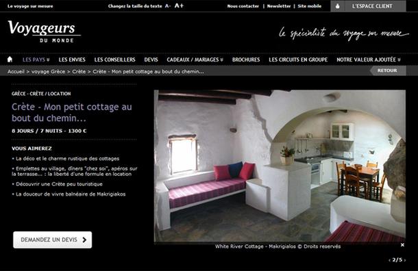 """Un produit comme """"Mon petit cottage au bout du chemin"""", proposé par Voyageurs du Monde en Crète, recèle toutes les composantes du tourisme durable y compris le confort et l'esthétisme. - DR"""