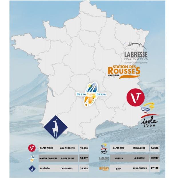 Le classement par massif des stations de ski - Crédit photo : Semrush