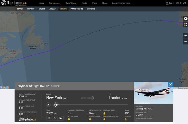 Trajet New York - Londres : un B747 bat le record de vitesse grâce à Ciara