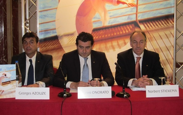 """""""Nous avons appris de nos erreurs et de nouvelles mesures vont désormais être mises en place pour améliorer la sécurité à bord"""" a déclaré Gianni Onorato, le DG de Costa Crociere, lors d'une conférence de presse - DR : LAC"""