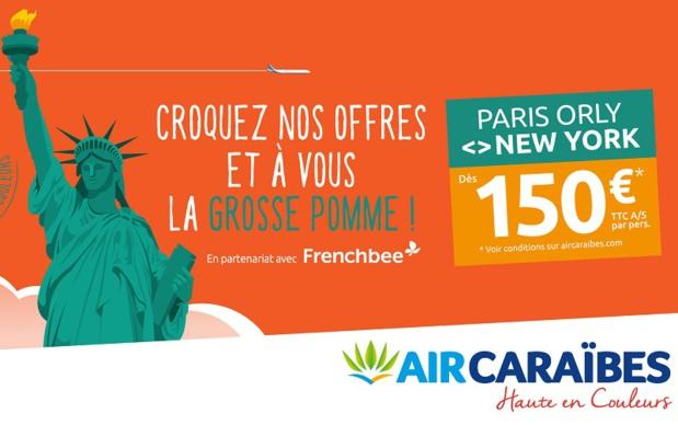 À l'occasion de ce lancement, Air Caraïbes en partenariat avec French bee, propose un tarif exceptionnel à partir de 150€ TTC l'aller simple par personne - DR : Air Caraïbes