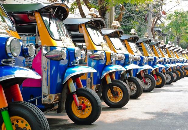 Comme les tuk-tuk, le tourisme en Thaïlande est à l'arrêt, les réservations s'effondrent face à l'hystérie médiatique du coronavirus - DR : Depositphotos @boonsom