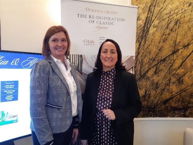 Alexandra Cabella, responsable du développement sur les marchés européens et Riet Goetschalckw, directrice des ventes Europe, Moyen-Orient et Afrique lors de leur conférence de presse de ce 25 février - DR : M.S.