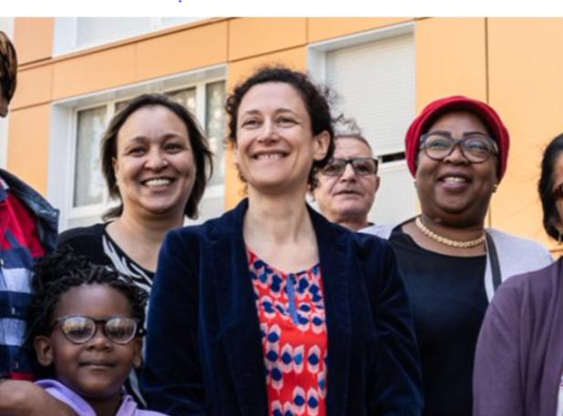 Emmanuelle Wargon, secrétaire d'Etat auprès de la ministre de la transition écologique, au premier plan. :crédit photo compte Twitter