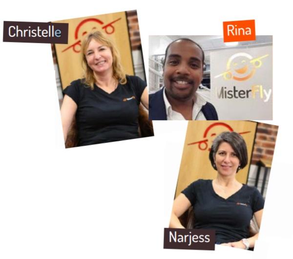 Narjess Lakhneche, Christelle Holbé et Rina Andria - DR