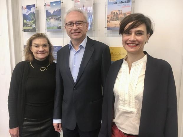 Nadine Vitu, directrice marketing et communication, Alain Souleille, président de Rivages du Monde et Sarah Cortes-Martin, directrice commerciale - DR : C.L.