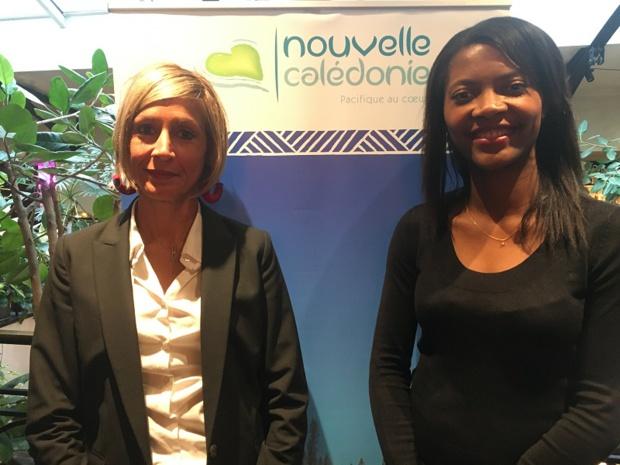 Julie Laronde, directrice adjointe de Nouvelle-Calédonie Point Sud et Clarisse Lasemillante, directrice de compte Nouvelle-Calédonie Tourisme Europe. -  DR : CL