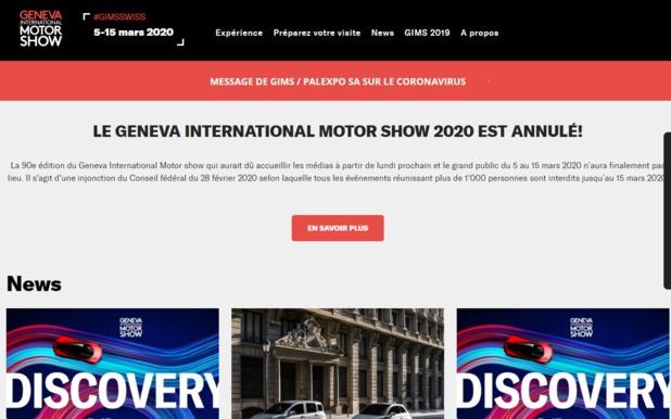LE GENEVA INTERNATIONAL MOTOR SHOW 2020 est annulé pour cause de coronavirus - DR
