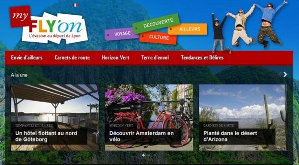 MyFlyOn.com est le nouveau blog lancé par Aéroports de Lyon - Capture d'écran