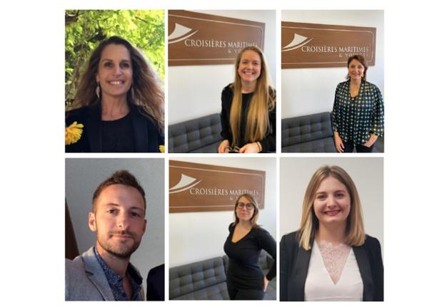 Sous la direction de Catherine Balmain, six collaborateurs vont commercialiser dans la France entière les croisières de CMV - DR : CMV