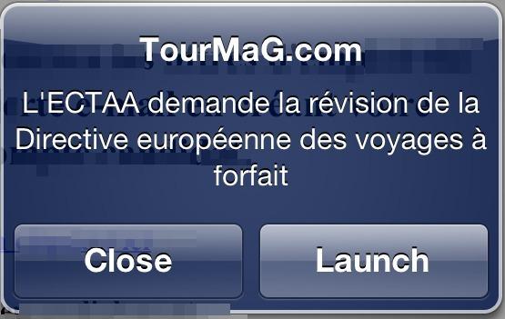TourMaG.com : les alertes opérationnelles dans votre appli iPhone