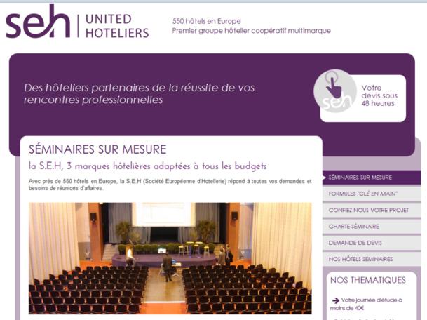 SEH : 2012 s'est engagée sur un partenariat avec les professionnels des groupes et incentives et sur un déploiement européen.
