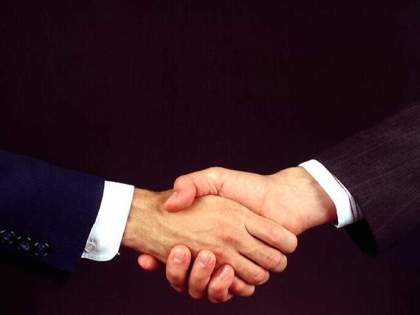 Au moment des présentations, serrez la main de votre interlocuteur de façon assez molle afin de ne pas lui briser la main. - DR : Photo-libre.fr