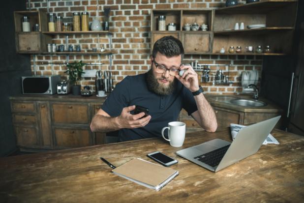 38% des personnes interrogées par Glassdoor déclarent que le travail à domicile est plus compatible avec leur vie familiale. /crédir DepositPhoto