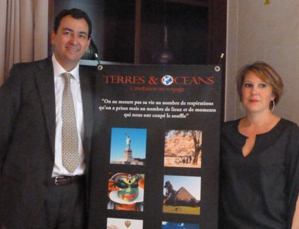 Pierre Eric Rémoleux, président du Groupe Perestrat et de Terres & Océans et Fanny Cadudal, directrice générale
