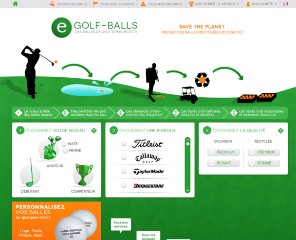 Le site egolf-balls.com lancé par P. Alzon - Photo DR