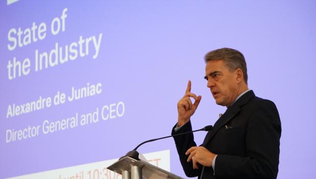 Alexandre de Juniac, patron d'IATA lors d'un symposium /crédit photo Iata
