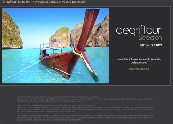 La home page invite les internautes à laisser leur adresse email pour être informé du lancement officiel. - Photo DR