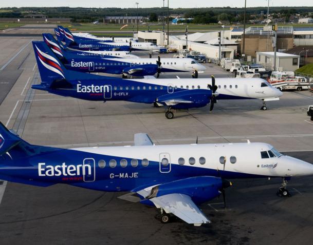 Une étude de marché a amenée la compagnie à choisir Dijon, en 2010, pour installer deux liaisons, Bordeaux et Toulouse à raison de deux rotations quotidiennes - Photo DR Eastern Airways