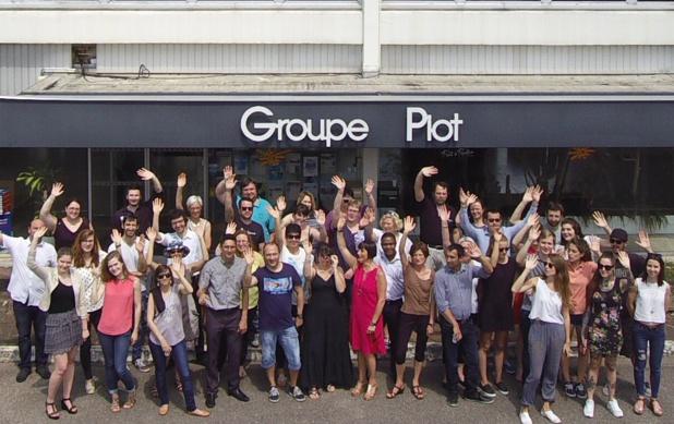 Les salariés du siège du Groupe Piot... avant le confinement - DR