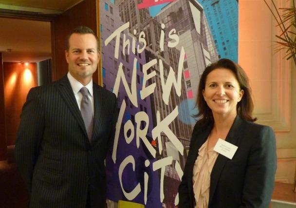 Fred Dixon, vice-président de l'office de tourisme de New York et Sandrine Ledru qui représente la destination en France, ont organisé une journée de formation à destination des professionnels - DR : LAC