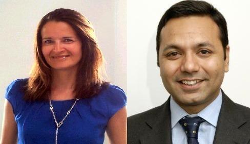Delphine Jaouen (à gauche) et Saurabh Chawla deviennent respectivement directrice Asset Management et Directeur international Développement et Acquisitions