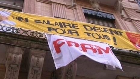 En décembre 2011, les salariés de Fram se sont mis en grève pendant 4 jours. Une première pour le TO toulousain - Photo FR3 DR
