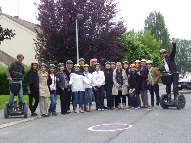 """Les participants à la convention ont pu s'initier au Segway (aussi appelé """"giropode"""") - Photo DR"""