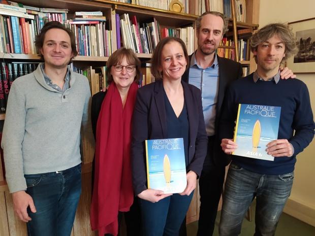 Guillaume Linton et une partie des équipes de production - Photo CL